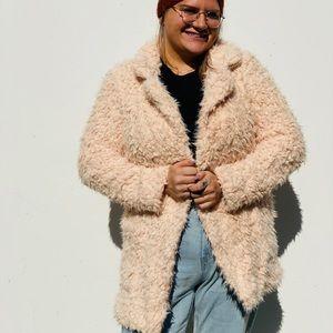 🆕🌸Blush Shaggy Coat